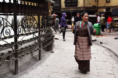 Tibetan woman Royalty Free Stock Photos