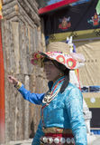 Tibetan Woman Stock Photo