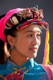 Tibetan woman in ethnic dress-up Royalty Free Stock Photo