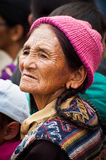 Tibetan woman at folk festival. India, Ladakh Stock Images