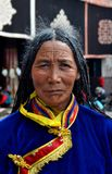 Tibetan woman in Lhasa Royalty Free Stock Photo