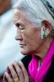 Tibetan woman, Nepal Royalty Free Stock Photos