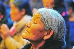 Tibetan woman Stock Images