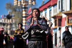 Tibetan woman Stock Image