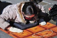 Tibetan woman Stock Photo