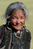 Tibetan woman portrait Royalty Free Stock Photos
