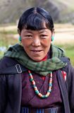 Tibetan woman in Upper Dolpo, Nepal Royalty Free Stock Photography