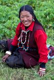 Tibetan woman in Upper Dolpo, Nepal Royalty Free Stock Photo