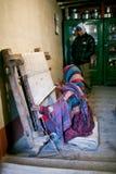 Tibetan woman weaving Royalty Free Stock Image