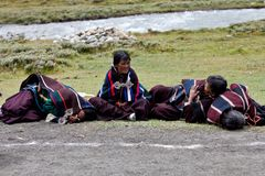 Tibetan women Stock Photo