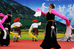 Tibetan women dancing Royalty Free Stock Photos