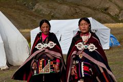 Tibetan women in Dolpo, Nepal Royalty Free Stock Images