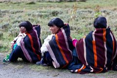 Tibetan women in Dolpo, Nepal Stock Photography
