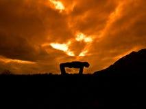 tibetan yoga fem Fotografering för Bildbyråer