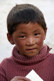 Tibetan young boy Royalty Free Stock Photo