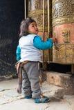 Tibetana barn Royaltyfria Bilder