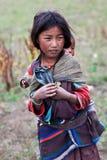 Tibetana barn, Nepal Arkivbilder
