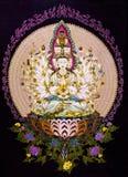 Tibetana diagram för thangkasBuddhavägg Royaltyfri Foto