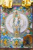 Tibetana diagram för thangkasBuddhavägg Fotografering för Bildbyråer