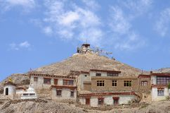 Tibetana klosterhus Arkivbilder