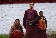 Tibetana monks Royaltyfria Foton