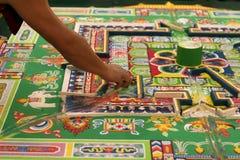 tibetana monks Royaltyfria Bilder