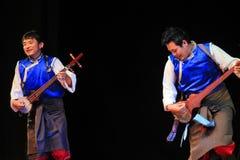 Tibetana musiker Arkivbild