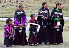 Tibetana nomads Royaltyfria Foton