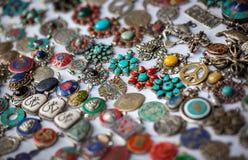 Tibetana smycken shoppar Royaltyfri Foto