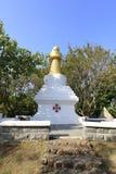 Tibetaner-ähnliche Pagode, luftgetrockneter Ziegelstein rgb Lizenzfreies Stockbild