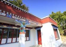 Tibetaner-Ähnliches Haus, luftgetrockneter Ziegelstein rgb Stockbilder