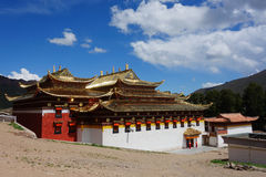 Tibetaner Langmusi-Tempel Stockfotos