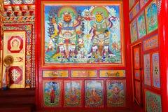 Tibetaner Langmusi-Tempel nach innen Stockbild