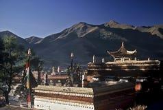 Tibetanische Architektur, China stockbilder