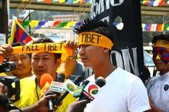 Tibetanische Aufstiegs-Tagesjahrestags-Feier bei Oo Lizenzfreie Stockbilder