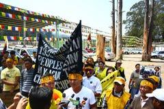 Tibetanische Aufstiegs-Tagesjahrestags-Feier bei Oo Stockfotos