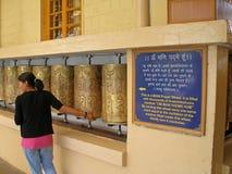 Tibetanische betende Frau Stockfotografie