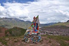 Tibetanische buddhistische Architektur stockfotografie