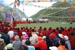 Tibetanische Feier des neuen Jahres stockfotografie