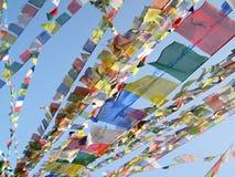 Tibetanische Flaggen Stockfotografie