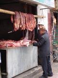 Tibetanische Fleischstandfront Lizenzfreie Stockbilder