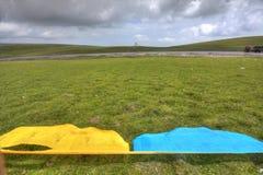 Tibetanische Gebet-Markierungsfahne Lizenzfreie Stockfotos