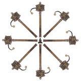 Tibetanische Gebet-Räder - getrennt Stockbild