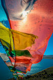 Tibetanische Gebetmarkierungsfahne Lizenzfreies Stockbild