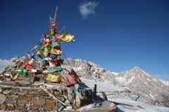 Tibetanische Gebetmarkierungsfahnen Stockfoto