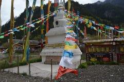 Tibetanische Gebetsflaggen Lizenzfreie Stockfotografie