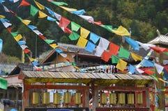 Tibetanische Gebetsflaggen Stockfotografie