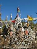 Tibetanische Gebetsflaggen Stockbilder