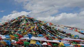 Tibetanische Gebetsflaggen Stockfotos