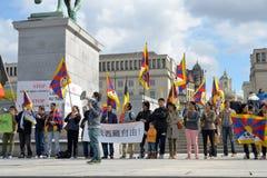 Tibetanische Gemeinschaft demonstrieren für Freiheit Lizenzfreies Stockbild